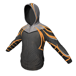 Black and Orange Athletic Hoodie