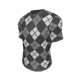 Black and White Argyle T-Shirt