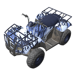 Blue Splatter ATV