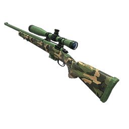 Camo Green Hunting Rifle