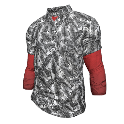Feather Print Polo Shirt