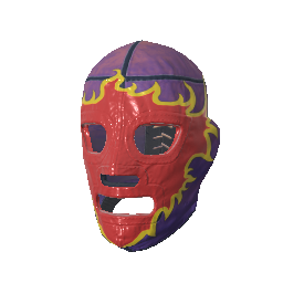 Fiery Rage Luchador Mask