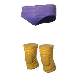 Fiery Rage Trunks and Kneepads