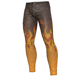 Flame Licked Leather Pants