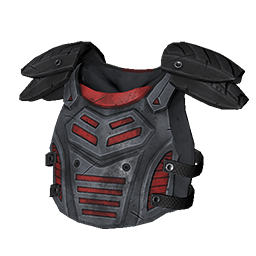 Gray and Red Armor