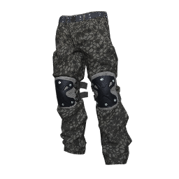 Gray Snakeskin Padded Pants