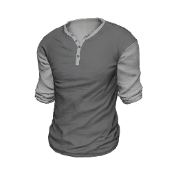 Gray Two-Tone Henley