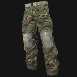 Green Camo Padded Pants