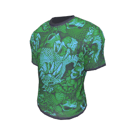 Green Dragon Print T-Shirt