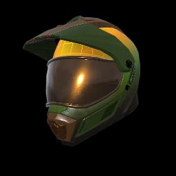 Green Mamba Motocross Helmet