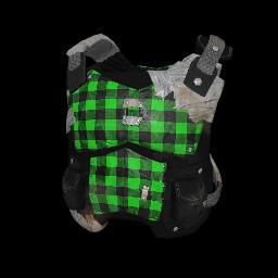 Green Plaid Makeshift Armor