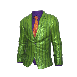 Green Striped Suit Jacket