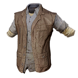 Leather Flannel Vest