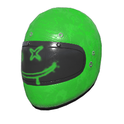 Lime Smiley Motorcycle Helmet