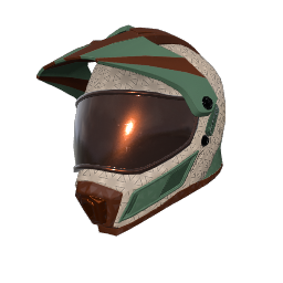 Mint Chocolate Motocross Helmet