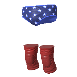 Murica Trunks and Kneepads