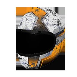 Orange Racing Helmet