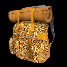 Orange Swirl Military Backpack