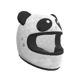 Pandamonium Motorcycle Helmet