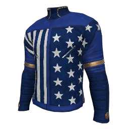 Patriotic Blue Military Shirt