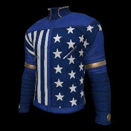 Patriotic Blue Military Shirt