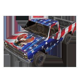 Patriotic Pickup Truck