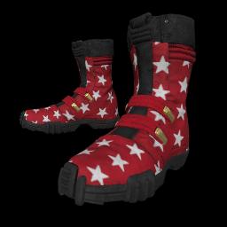 Patriotic Red Combat Boots