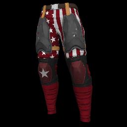 Patriotic Red Military Pants