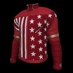 Patriotic Red Military Shirt