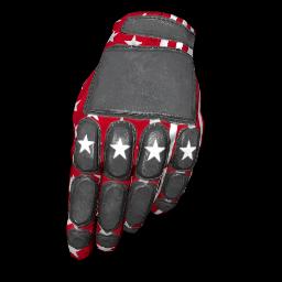 Patriotic Red Padded Gloves