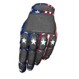 Patriotic Stars Padded Gloves