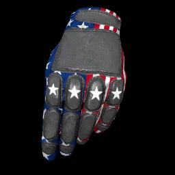 Patriotic Stars Padded Gloves