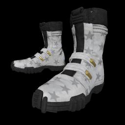 Patriotic White Combat Boots