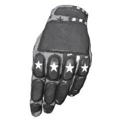 Patriotic White Padded Gloves
