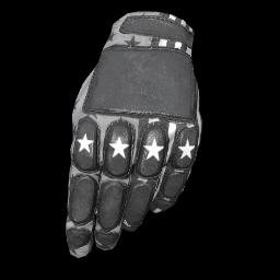 Patriotic White Padded Gloves