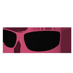 Pink Face Bandana & Biker Shades