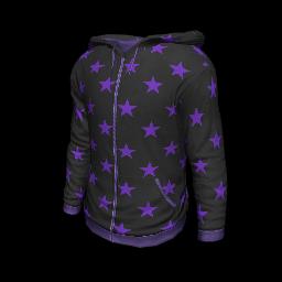 Purple Starred Hoodie