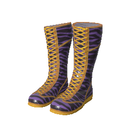 Purple Zebra Wrestling Shoes