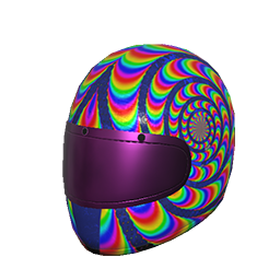 Rainbow Swirl Helmet