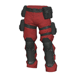 Red and Black Military Pants