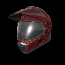 Red Dragon Motocross Helmet