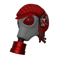 Red Fumigator Mask