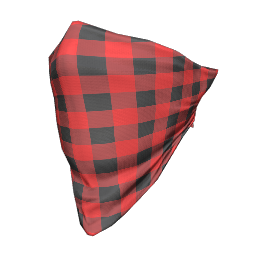 Red Plaid Face Bandana