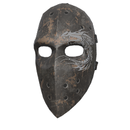 Scorched Hockey Mask