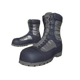 Silver Soldier Combat Boots