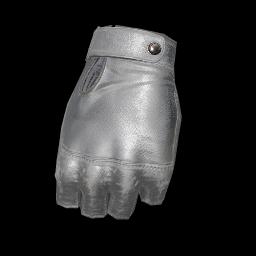 Silver Soldier Fingerless Gloves