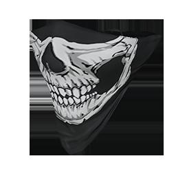 Skull Face Bandana & Black Biker Shades