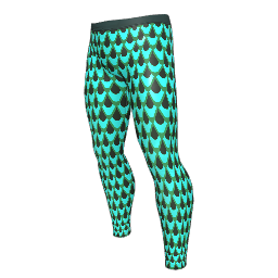 Teal Scale Leggings