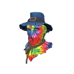Tie-Dye Scarecrow Mask