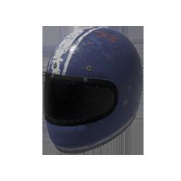 White Striped Motorcycle Helmet